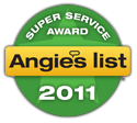 Super Service Award 2011 - Angies List